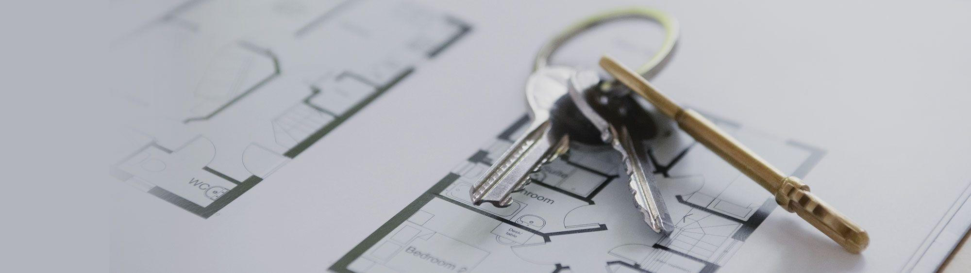 Bild von Schlüsseln auf Grundriss